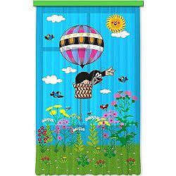 AG ART Detský záves Krtko v balóne, 140 x 245 cm
