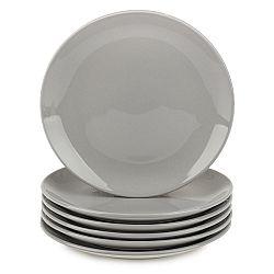 Altom Sada porcelánových dezertných tanierov Monokolor 19 cm sivá, 6 ks