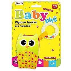 Baby Mobil plyšový Sova s melódiou a hrkálkou