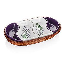 Banguet Lavender Servírovacie misy v košíku 30,5 cm,