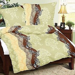 Bellatex Saténové obliečky Lucie Ornamenty, 240 x 200 cm, 2 ks 70 x 90 cm