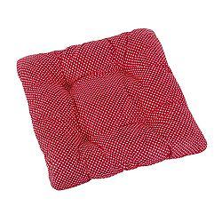 Bellatex Sedák Adela prešívaný Bodka červená, 40 x 40 cm