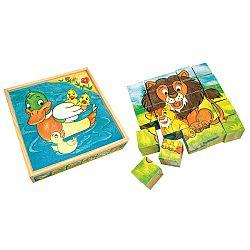 Bino Obrázkové kocky Zvieratká 25 ks