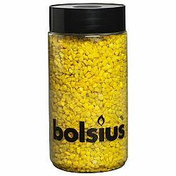 Bolsius Dekoračné kamienky 3 mm žltá, 600 g