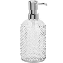Dávkovač mydla Glass dots, číra