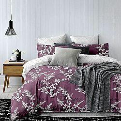 DecoKing Obliečky Hypnosis Calluna fialová, 200 x 220 cm, 2 ks 70 x 90 cm