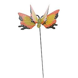 Dekorácia Motýlik oranžová, 15 cm