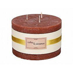 Dekoratívna sviečka Elegancia Káva a škorica, pr. 13 cm