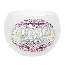 Dekoratívna sviečka Home lampión, biela