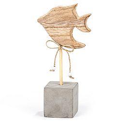 Drevená dekorácia Big fish, 18 cm