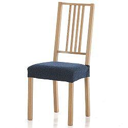 Forbyt Multielastický poťah na sedák na stoličku Petra modrá, 40 - 50 cm, sada 2 ks