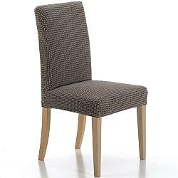 Forbyt Multielastický poťah na stoličku Sada hnedá, 40 - 50 cm, sada 2 ks