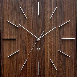 Future Time FT1010WE Square dark natural brown 40cm