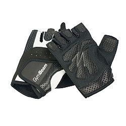 GymBeam Fitness Dámske rukavice Bella white - black L