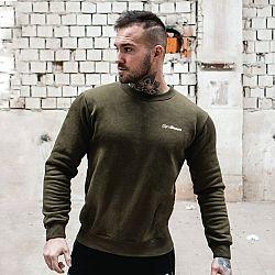 GymBeam Mikina Basic Military Green White green XL