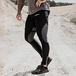 GymBeam Pánske legíny Flex Tights Black Grey black - grey S