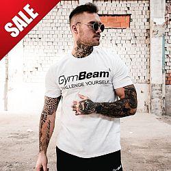 GymBeam Tričko Challenge White Black M