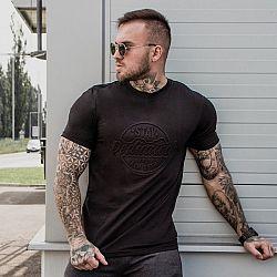 GymBeam Tričko Stay Dedicated Black Emboss XL
