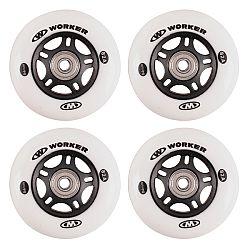 In-line kolieska WORKER 84mm a ložiská ABEC-9 chrome - Set 4 ks