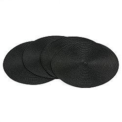 Jahu Prestieranie Deco kulaté čierna, súprava 4 kusov, 35 cm