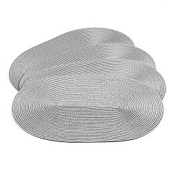 Jahu Prestieranie Deco ovál sivá, 30 x 45 cm, sada 4 ks