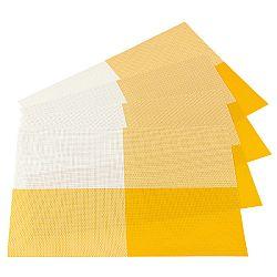 Jahu Prestieranie DeLuxe žltá 30 x 45 cm sada 4 ks