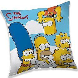 Jerry Fabrics Vankúšik The Simpsons family clouds, 40 x 40 cm