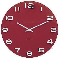 Karlsson 5640RD Designové nástenné hodiny, 35 cm