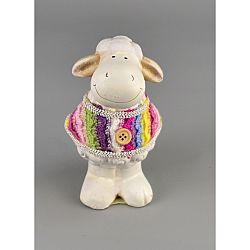 Keramická ovečka Justýna, 9,5 cm