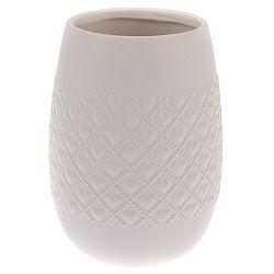Keramická váza Fains béžová, 18 cm