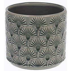 Keramický obal na kvetináč Campello sivá, pr. 13 cm