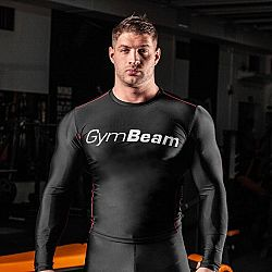 Kompresné tričko Spiro Black/White - Gym Beam XL