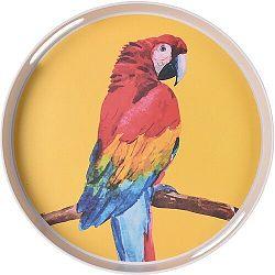 Koopman Bambusová servírovacia tácka pr. 30 cm, papagáj