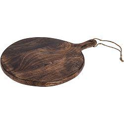Koopman Drevená krájacia doštička s úchytom, pr. 40 cm