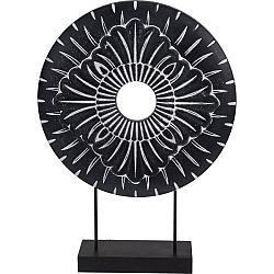 Koopman Kovová africká dekorácia Nange čierna, pr. 29 cm