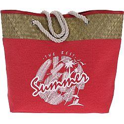 Koopman Plážová taška The best summer, červená