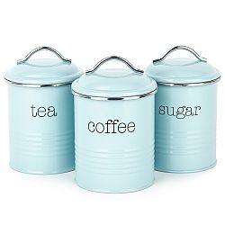 Koopman Sada dóz na kávu, čaj a cukor, modrá
