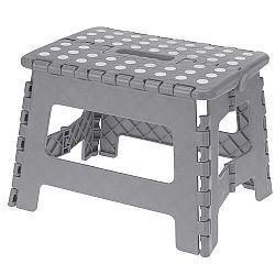 Koopman Skladacia stolička sivá, 29 x 22 cm