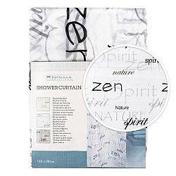 Koopman Sprchový záves Zen čierna, 180 x 180 cm