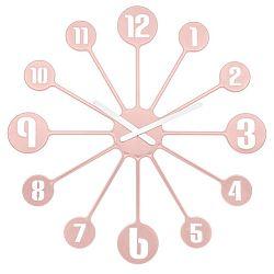 Koziol Nástenné hodiny Pinball ružová, pr. 45 cm