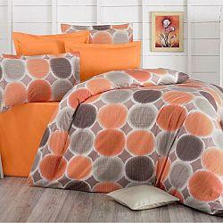 Kvalitex Bavlnené obliečky Delux Targets oranžová, 220 x 200 cm, 2 ks 70 x 90 cm