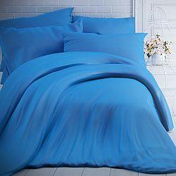 Kvalitex Bavlnené obliečky modrá, 200 x 200 cm, 2 ks 70 x 90 cm