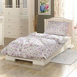 Kvalitex Bavlnené obliečky Provence Beáta fialová, 240 x 220 cm, 2 ks 70 x 90 cm