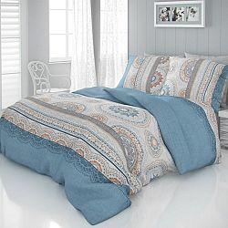 Kvalitex Saténové obliečky Luxury Collection Carmela modrá , 240 x 220 cm, 2 ks 70 x 90 cm