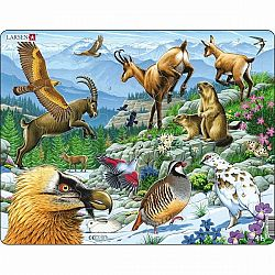 Larsen Puzzle Zvieratá v Alpách, 55 dielikov