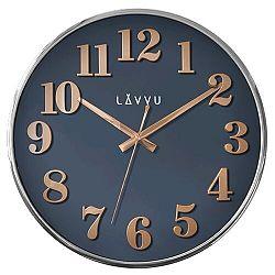 LAVVU LCT1164 - Modré hodiny Home Blue s dreveným dekorom