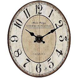 Lowell 14860 Dizajnové nástenné hodiny 32 x 39 cm