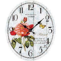 Lowell 14885 Dizajnové nástenné hodiny 39 x 32 cm
