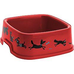 Miska pre domácich miláčikov Cane červená, 19,5 x 19,5 cm