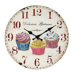 Nástenné hodiny Cupcake, pr. 34 cm